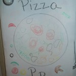 Inexpensive Kids Craft – Decorate a Pizza
