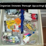 Cheap Way to Organize Your Drawers! Upcycling Plastic Containers!