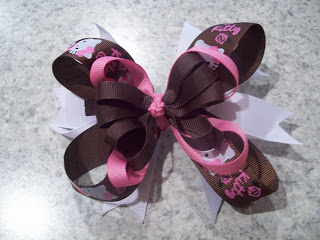 Hello Kitty Brown and Pink Hairbow