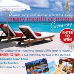 Merry Month of Mom's Giveaway at Spa Week! Enter to Win A 2 Night Stay in Sunny Isles Beach, Florida!