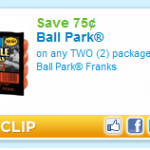New Ball Park Franks Coupon for .75 off!