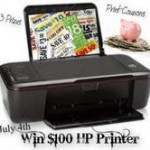 Enter To Win a $100 HP Printer, $25 HP.com Gift Certificate, or a Fully Loaded Coupon Binder!