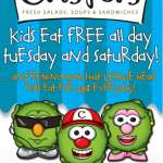 Kids Eat FREE All Day Tuesday and Saturday at Crispers!!!