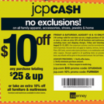 Did You Get This $10 off Coupon Via Email from JCPenney? Sign Up for FREE!