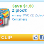 * Coupon Alert * $1.50 off 2 Ziploc Containers!