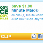 $1.00 off Coupon for a 10 Pack of Minute Maid! Just In Time for School Lunches!