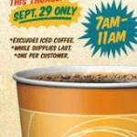 FREE Coffee or Discounts on National Coffee Day September 29, 2011!