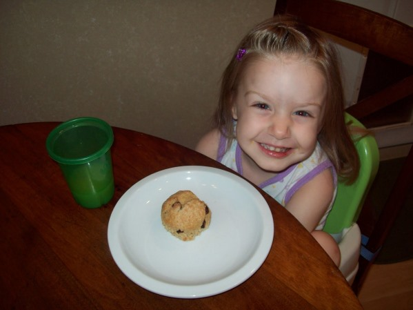 Enjoying Chocolate Chip Banana Muffins