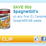 Coupon for Spaghetti O's! I Know The Song Is Going Through Your Head Right Now!