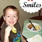 Apple Smiles, A Fun Children's Snack and Great for Hand Eye Coordination!