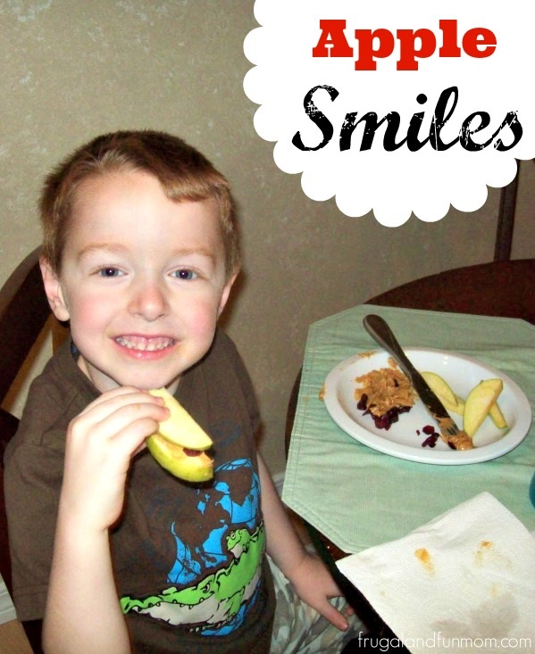Apple Smiles Childs Snack and Craft