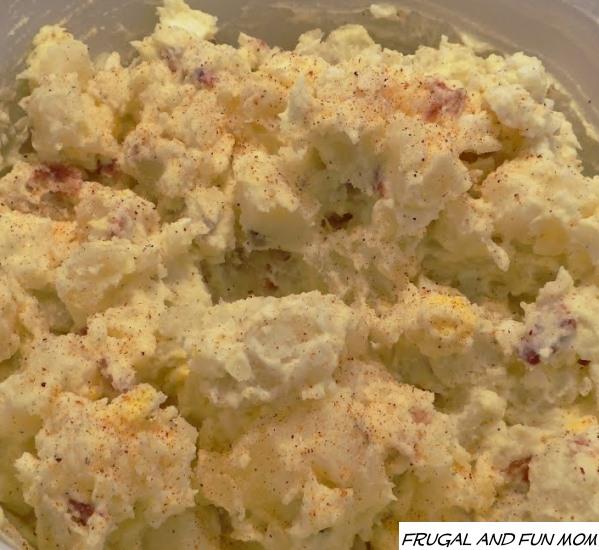 Bacon and Egg Potato Salad upclose