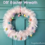 Make Your Own Easter Wreath In A Day! This Is A No Glue Project!