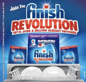 FREE Sample of Finish Dishwasher Detergent!