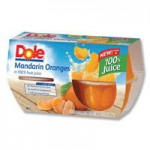 Dole Fruit Coupons Including Mandarin Oranges! Great To Pack In Kids School Lunches!