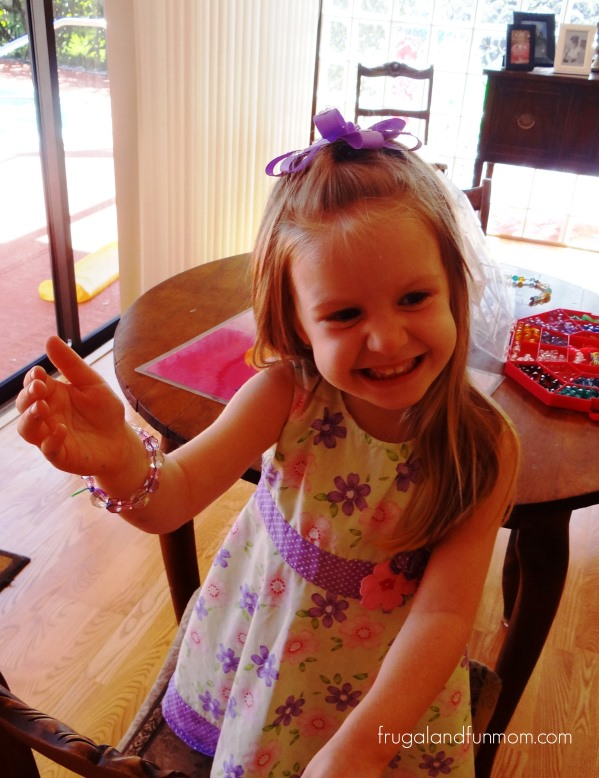 Making Homemade Beaded Bracelets!  A Surprisingly Easy Craft for the Kids!