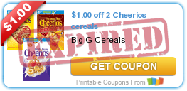 $1.00 off 2 Cheerios cereals