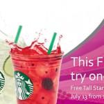 FREE Starbucks Refreshers Friday at Starbucks July 13, 2012!