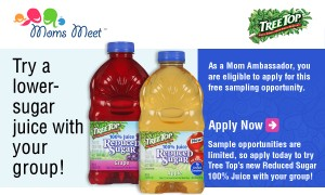 FREE Product Sampling Opportunity Through Moms Meet for Tree Top Juice!