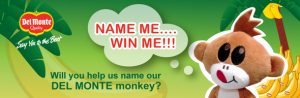 Enter To Win A Year Supply of Bananas By Helping Del Monte Name Their Monkey!
