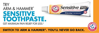 FREE Sample of Arm & Hammer Sensitive Toothpaste!