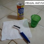 I Got My Grout Clean Today! A Frugal Living Tip!