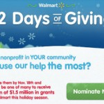 Walmart Will Be Giving a Total of $1.5 Million in Grants To Local Nonprofits This Holiday Season! Who Will You Nominate?