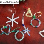 Homemade Christmas Ornaments with Beads! A Quick and Simple Kid's Craft!