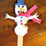 Snowman Craft With Cotton Balls and Construction Paper! Easy and Fun for the Kids!