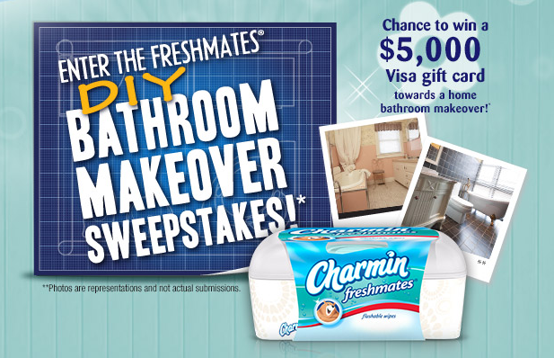 Enter to Win a $5000 Bathroom Makeover From Charmin Freshmates! Plus, Forty-two (42) Daily Prizes!
