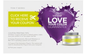 FREE 8 Oz. Sample of Valspar Paint!  Coupon Redeemable at Lowe's!