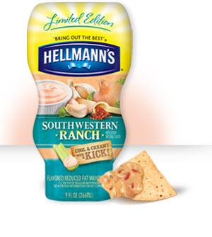 Limited Edition Hellmans Mayo Southwestern Ranch