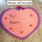 No Glue Valentine's Day Candy Card! A Construction Paper Craft For Kids!