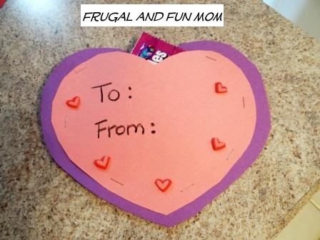 No Glue Valentines with Pocket for Candy