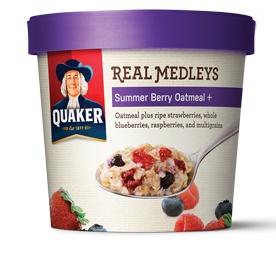 Quaker Real Medleys Summer-Berry-Oatmeal