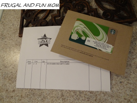 Starbucks Card Disney Movie Rewards