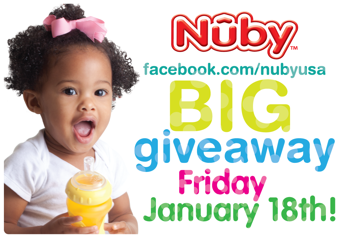 Giveaway Event at Nuby's Facebook Page Starting Friday January 18, 2013!