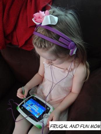 Daughter with Kidz Gear Headphones