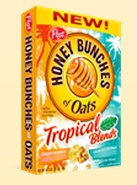 Honey Bunches of Oats Tropical Blends Box