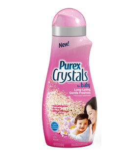 Purex Baby Laundry Detergent is hypoallergenic, dermatologist-tested and formulated to be extra gentle on your little one's sensitive skin. Purex baby detergent leaves your baby's clothes fresh and clean with a soft baby scent.