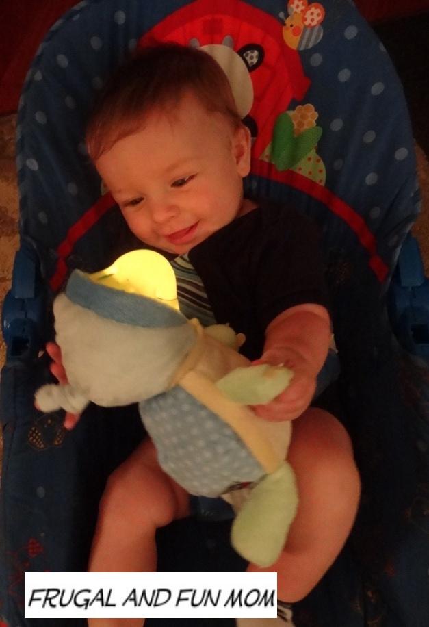 Baby with Nuby Bedlite Buddies