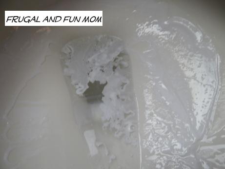 Soft Scrub Lemon in toilet