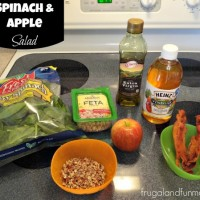 Spinach Apple Salad Ingredients