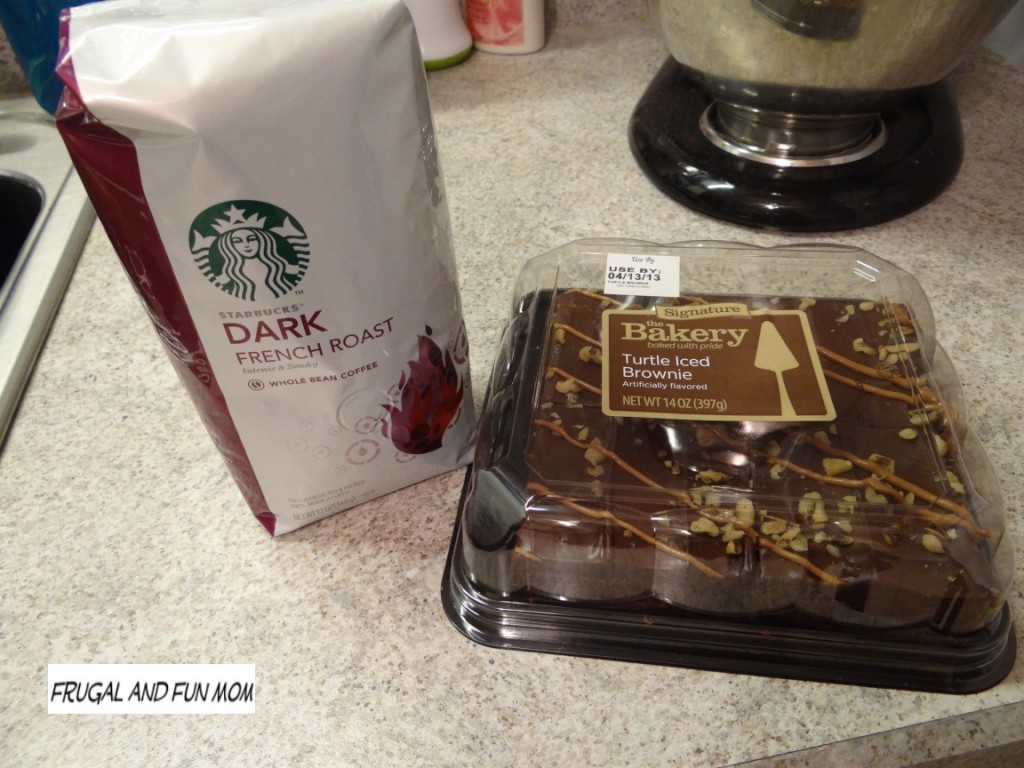 Starbucks Coffee and Walmart Brownie