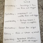 Frugal Living Tip, The Weekly Dinner List! A Way To Get The Family Involved in Meal Planning!