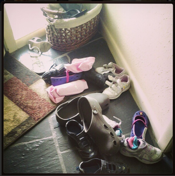 shoes at front door on Instagram
