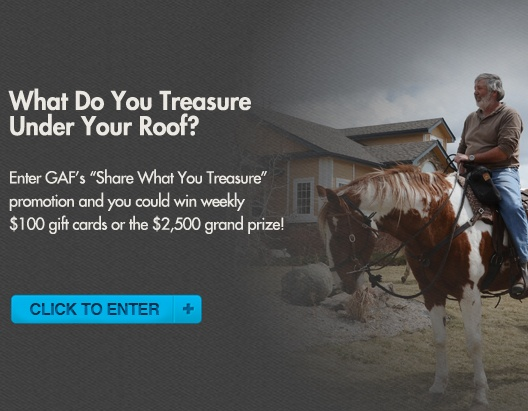 Share What You Treasure GAF Roofing