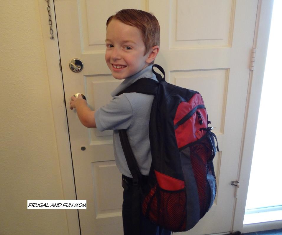 boy off to school