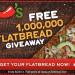 Print Your FREE Chili's Flatbread Coupon! No Purchase Necessary, Ends 6/24/2013!