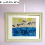 Frame Your Child's Original Themed Artwork! Frugal and Fun Decorating Idea!
